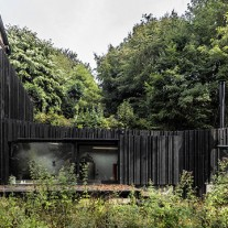 black wood house por marchi architectes