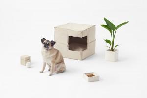 Cubic Pet Goods por Nendo