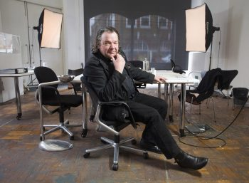 Will Aslop, Architect, photographed in his studio in South London. Alsop won the Stirling Prize for architecture in 2000 for his design of the Peckham Library and Media Centre.