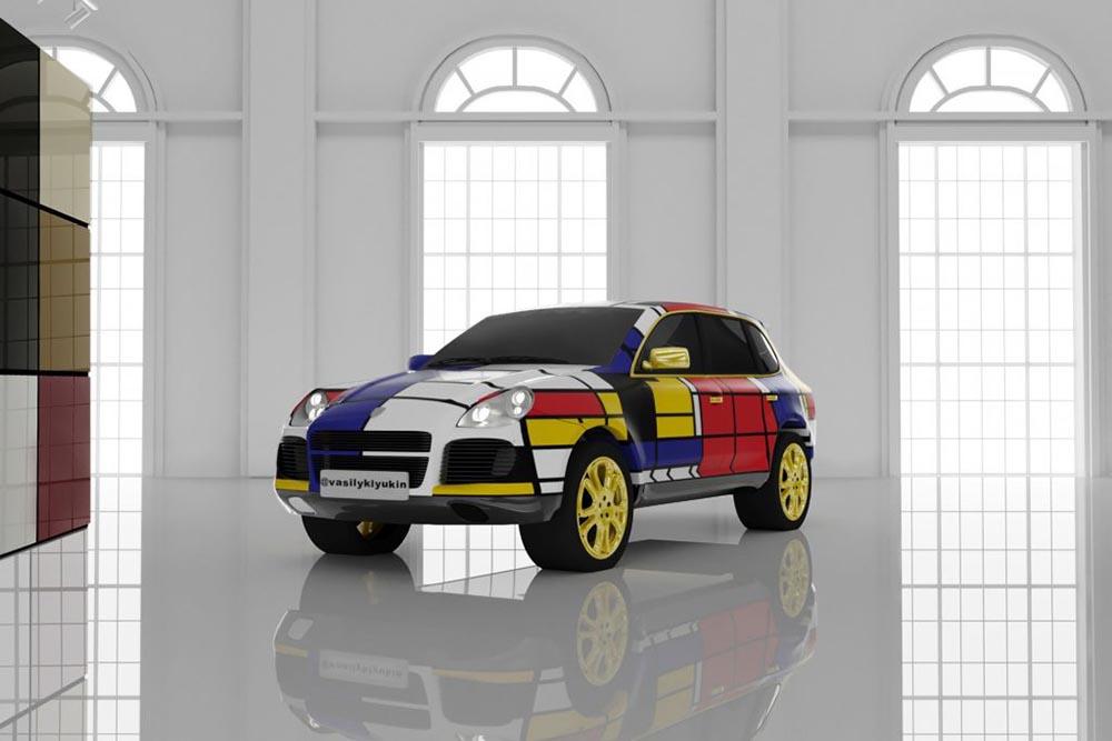 Autosalon Mondrian por Vasily Klyukin