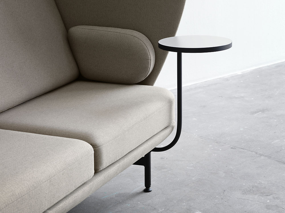 10535_Plenum high-back sofa system - detail close-up_ side sofa table