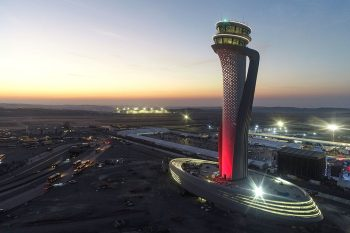 Traffic Control Tower Of Istanbul New Airport