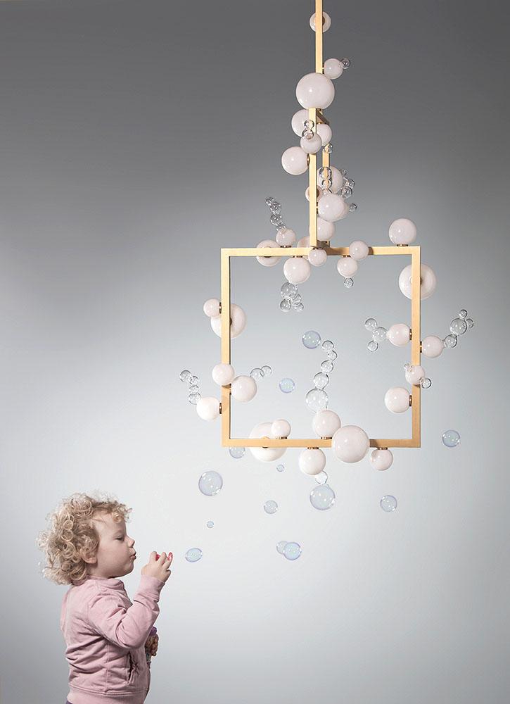 Simone Crestani - Bollicine chandelier two tiers-L