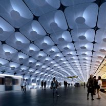04_ZHA_Fornbuporten Station_Platform (north end at 10am)_ render by VA