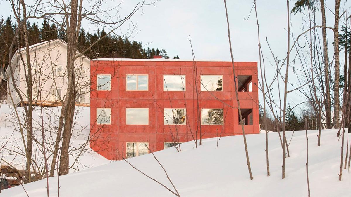 House-in-Red-Concrete-Sanden-Hodnekvam-Arkitekter-01
