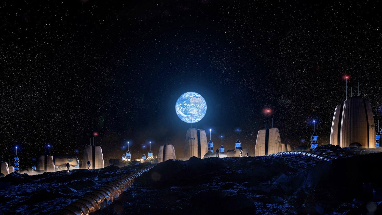 Moon Village SOM y European space agency 01