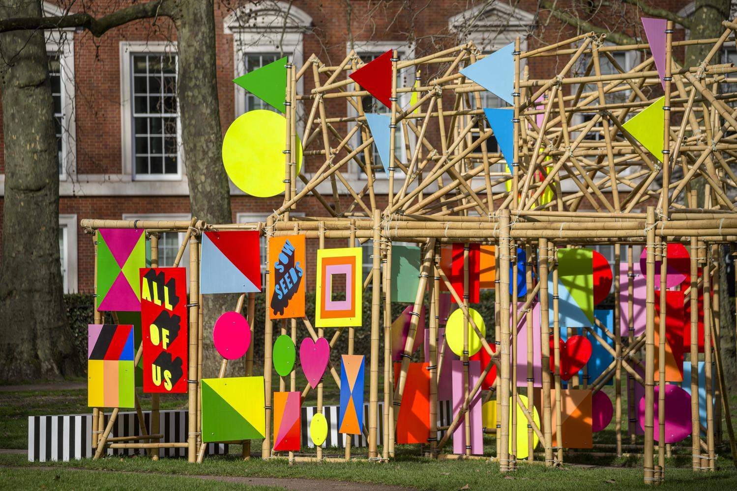 See Through Bamboo Installation Morag Myerscough 02