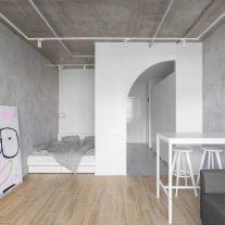 Flat with Half Arc SHKAF interior architects 01