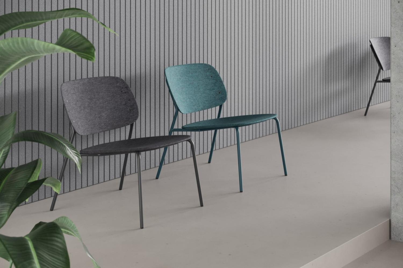 Hale PET Felt lounge chair De Vorm 01