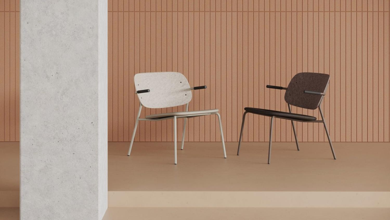 Hale PET Felt lounge chair De Vorm 02