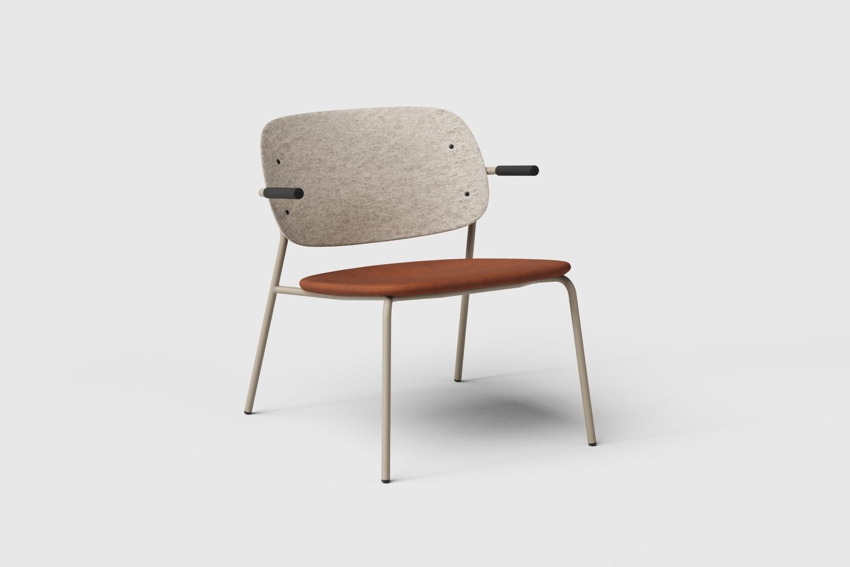 Hale PET Felt lounge chair De Vorm 04