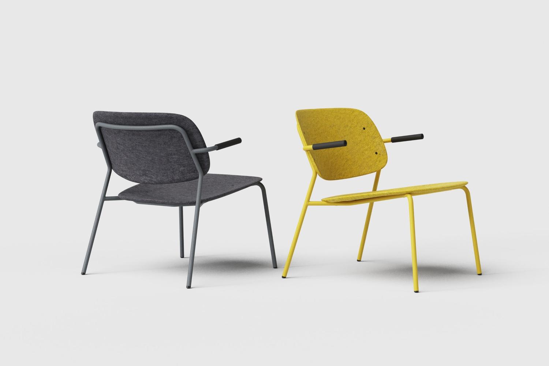 Hale PET Felt lounge chair De Vorm 06