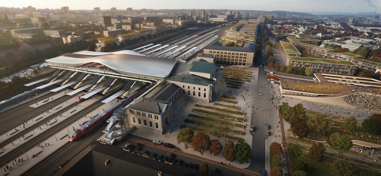 Vilnius railway station complex Zaha Hadid Architects 02