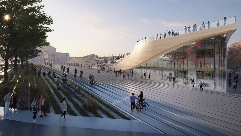Vilnius railway station complex Zaha Hadid Architects 04