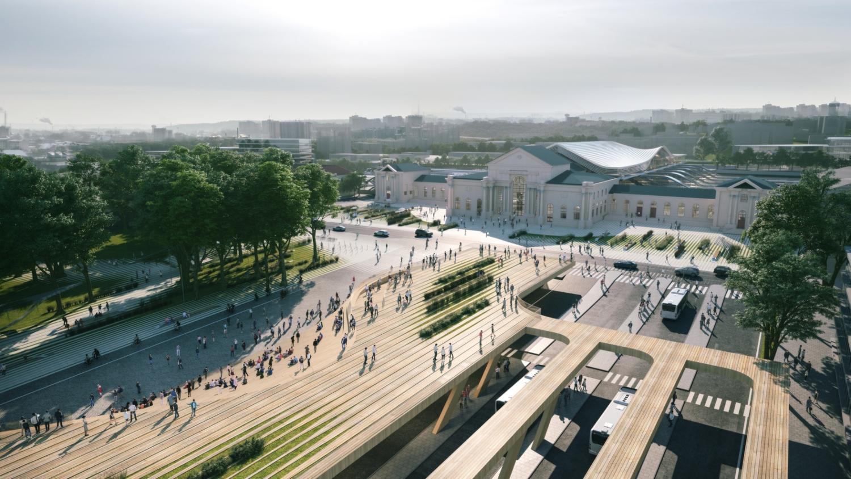 Vilnius railway station complex Zaha Hadid Architects 07